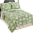 Paisley Birds and Floral Print Reversible Striped Lightweight Quilt