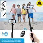 Extendable Bluetooth Selfie Stick Monopod Remote Control 360° Clamp iOS Android