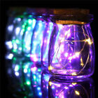 10LEDs Fairy Light Mason Jar Lid Lights Color Changing Xmas Wedding Garden Decor