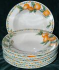 SET OF 8 SOUP BOWLS AVON JULIE POPLE COUNTRY FRUIT COLLECTION ORANGES FREE SHIP