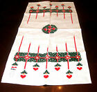 Linen Christmas Towel Set of 2 From Lativa Old Stock With Tags 18 X 36 Multiples