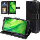 TECHGEAR Flip Slim Leather Wallet Case Cover inc Stand For Motorola Moto G6