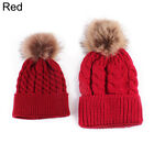 Cute Kids Baby Boys Girls Mom Hat Set Knitted Winter Warm Hats Beanie Cap US