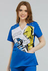 Artoo Cherokee Scrubs Tooniforms Star Wars V Neck Top TF705 SRAT $23.99 USD on eBay