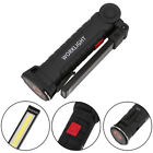 Practical USB Torch LED Work Light Rechargeable COB Flashlight Hanging Hook Lamp