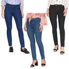 Womens Mid Waist Stretch Slim Fit Dark Colour Skinny Jeans Trousers Pants Size