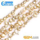"""6x8mm Assorted Colors Freeform Freshwater Pearl Beads For Jewelry Making 15"""""""