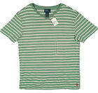 NEW Polo Ralph Lauren T Shirt!  Pinkish Red, Orange, Green, Faded Navy  Striped