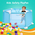 Baby Playpen Play Center Yard Tent Safety Fence With 50Pcs Balls Indoor Outdoor