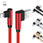 90° Elbow USB Lightning Charger Charging Data Sync Cable For iPhone 8 7 6s 6 5 X