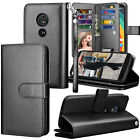 For Motorola Moto G6 Play XT1922/ G6 Forge Flip PU Leather Card Slot Wallet Case