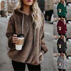 NEW Women Autumn Casual Sweater Warm Fleece Hooded Pullovers Hoodie Outfit 32
