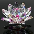 CRYSTAL LOTUS FLOWER ORNAMENT LARGE CRYSTOCRAFT HOME DECOR_ ALL COLOURS FREE_UK