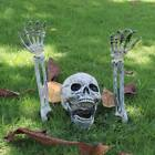 Внешний вид - Halloween Scary Horror Skeleton Decorations Head Bones Skull Hand Outdoor Indoor