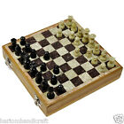 """8"""" Marble Chess Wooden Chess Stone Pieces Travel Play Decor Game best Gift H659A"""