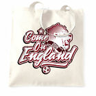 Football Tote Bag Come On England 2018 Soccer Russia Distressed Goal 1966