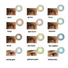 1 Pair Colored Cosmetic Contact Lenses 0 Degree Yearly Use Makeup Eyewear Mode