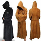 Star Wars Jedi Sith Soft Fleece Hooded Bathrobe Black Bath Robe Cloak Cape -hlq5