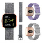 Replacement Woven Canvas Nylon Band Strap Wristband For Fitbit Versa Smart Watch