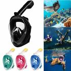S~XL Anti-Fog Swimming Full Face Mask Surface Diving Snorkel Scuba for GoPro