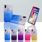 Slim ShockProof Soft TPU Shell Case & Bling Glitter Cover for iPhone X S