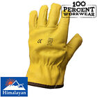 Kyпить Himalayan Thermal Fleece Lined Yellow Grain Leather Work Safety Gloves Drivers на еВаy.соm