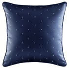 """Hannah Piped Square Pillow Dark Blue 16"""" Square image"""