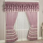 Allegro Tailored Curtain Pair Dusty Mulberry 84 x 82 image