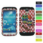For Samsung Galaxy S4 Basketball Owl Chevron Hybrid ShockProof Phone Case Cover
