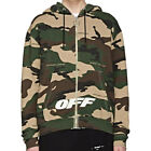 Off-White Camo Zip Hoodie Green Size XS S M L XL Mens Apparel New