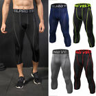 men s compression capris sports tights running