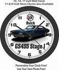 1970 BUICK GS455 STAGE 1 WALL CLOCK-FREE USA SHIP