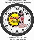 MOPAR PARTS & ACCESSORIES PINUP GIRL ALL CLOCK-FREE USA SHIP-DODGE, PLYMOUTH $28.99 USD on eBay