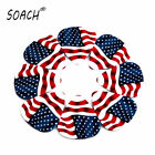 SOACH 50pcs 0.49mm Two Sides Musical  Flag of the United States Guitar picks
