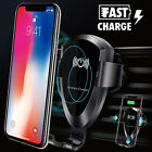 Fast Wireless Car Charger Gravity Air Vent Phone Holder Mount for Samsung S8/S9