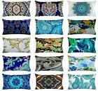 """Bohemian Velvet Throw Pillow Cover Sofa Couch Bed Decorative Cushion Case 12x20"""""""