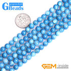 """6mm Dyed Colorful Shell Round Beads For Jewelry Making Free Shipping Strand 15"""""""