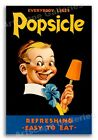 "1930s ""Everybody Likes Popsicle"" Vintage Style Weird Poster - 16x24"