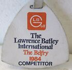 LEATHER COMPETITOR BAG TAG AND STRAP-THIS BELONGED TO PETER OOSTERHUIS 1984
