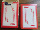 VINTAGE US PLAYING CARD COMPANY - TWA PLAYING CARDS ~ AIRPLANE  - 727