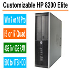 HP Desktop PC 8200/6200 Elite Windows 7/10 Intel i5/i7 Quad Core 4GB, 8GB, 16GB <br/> 500GB to 1TB HDD - Optional Dual Video Card available
