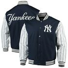 New York Yankees JH Design Quilted Knit Jersey Lined Jacket Navy