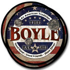 Boyle Family Name Drink Coasters - 4pcs - Wine Beer Coffee & Bar Designs
