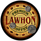 Lawhon Family Name Drink Coasters - 4pcs - Wine Beer Coffee & Bar Designs