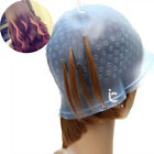 Silicone Dye Hat Cap For Hair Color Highlighting Hairdressing With Hook Reusable
