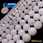 "White Jade Gemstone Round Beads For Jewelry Making Free Shipping 15"" 4mm 6mm 8mm"