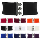 Women's Dress Belt Metal Hook Wide Waistband Girls Straps St