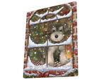 Please Come Home For Christmas Schnauzer Dog Sitting Window Blanket BLNKT54201