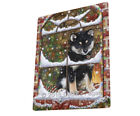 Please Come Home For Christmas Shiba Inu Dog Sitting Window Blanket BLNKT54255