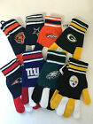 NFL Knit Gloves Football Team Colors Logo Giants Packers Bears Broncos on eBay